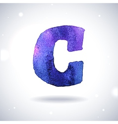 Watercolor letter C vector image