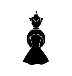 Wedding dress glyph icon vector