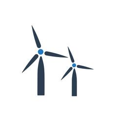 Windmill icon vector