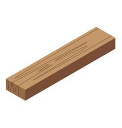 Wood bar icon isometric style vector