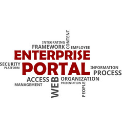 word cloud - enterprise portal vector image