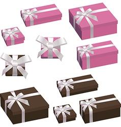 A festive box with a bow vector