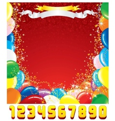 Birthday Greeting Card Template for Design vector image vector image