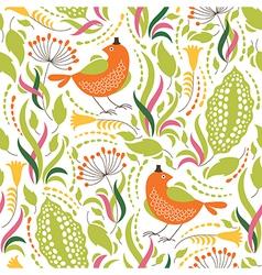elegance floral pattern vector image vector image