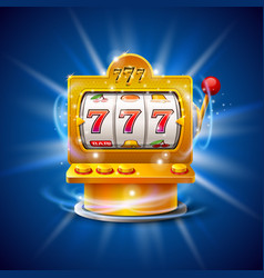 golden slot machine wins the jackpot isolated on vector image