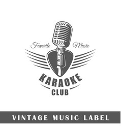 music label vector image