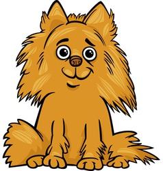 pomeranian dog cartoon vector image vector image