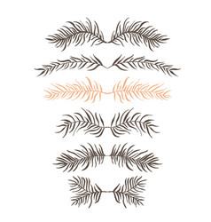 set branch vector image