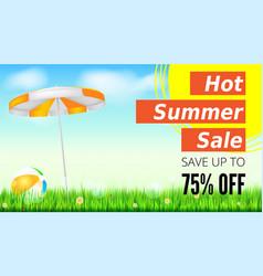 Summer selling ad banner vintage text design vector