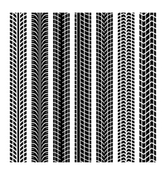 Black tire marks vector image