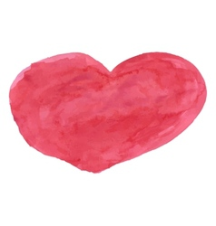 Red watercolor heart vector image vector image