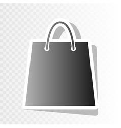 shopping bag new year vector image vector image