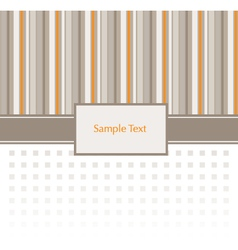 Stripey Invitation Pattern vector image