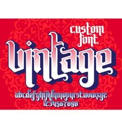 Vintage custom font vector