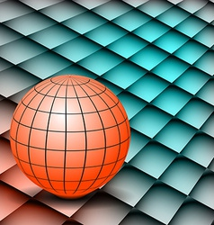 Abstract background Globe on board vector image