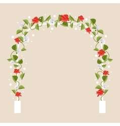 Arch with flowers vector image