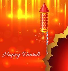 Beautiful shiny background of diwali vector image vector image