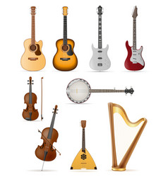 stringed musical instruments stock vector image