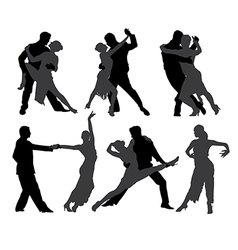 Tango Dancers Silhouette vector image