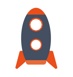 cartoon rocket or spaceship icon image vector image vector image
