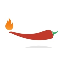 red hot chili pepper icon vector image