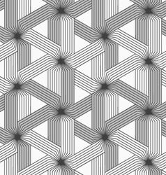 Shades of gray striped three ray stars vector image vector image