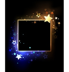 Square Banner with Contrasting Stars vector image vector image