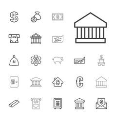 22 banking icons vector