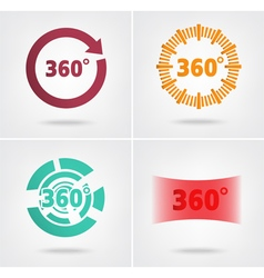 360 degrees view sign vector image