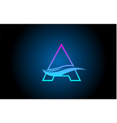 A blue and pink alphabet letter logo icon for vector