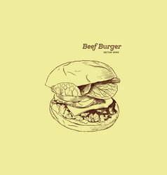 a burger drawing vector image