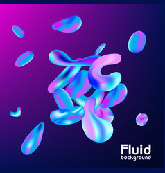 abstract background with liquid colorful shapes vector image