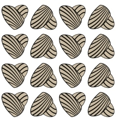 Abstract heart with stripes seamless vector image