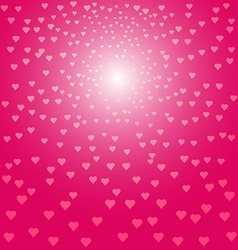 Abstract pink hearts background vector image