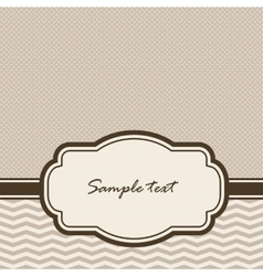 background with vintage frame vector image