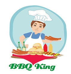 BBQ king vector image