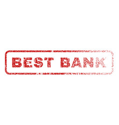 best bank rubber stamp vector image