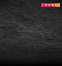 Black Concrete Wall vector image