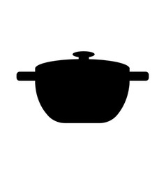 black pan simple template vector image