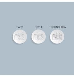 Camera Icon flat vector