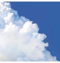 Cloud in blue sky vector image