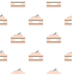 Cream in a jar pattern flat vector
