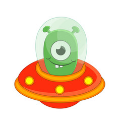 cute cartoon alien isolated on vector image