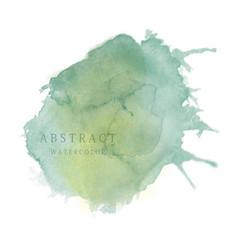 Dark green abstract splash watercolor background vector