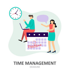 deadline time management effective time spending vector image