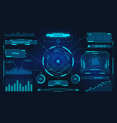digital user interface futuristic technology ui vector image