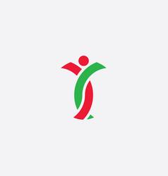 dna man logo icon symbol vector image