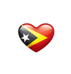 East timor flag on a white vector