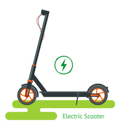electric scooter on road scooter vector image