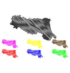 emilia-romagna map vector image